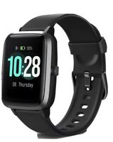 Letsfit Smart Watch ID205L Waterproof Fitness Tracker w/Heart Rate Monitor Black