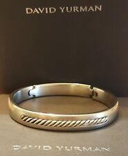 David Yurman Vintage 925 & Titanium Hinged Bangle Bracelet Size 7.75 (34.6 gram)