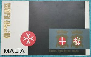 1970 Malta XIII Council of Europe Art Exhibition - Presentation Folder + SHC