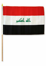 "12x18 12""x18"" Wholesale Lot of 6 Iraq Stick Flag wood staff"