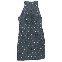NEW Banana Republic Blue Halter Sheath Dress Pleated Bow Size 4 NWT $138