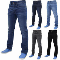 Mens Slim Fit Jeans Skinny Stretch Denim Cotton Casual Pants Trousers Bottoms