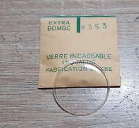Verre de montre suisse bombé plexi diamètre 353 Watch crystal vintage *NOS*