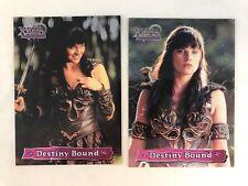 XENA WARRIOR PRINCESS SERIES 3 Topps 1999 Complete DESTINY BOUND Chase card Set
