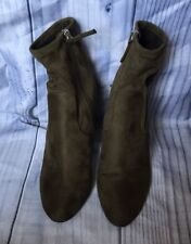Steve Madden Suede Side Zip Ankle Boots, Size 7.5, Brown