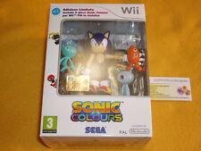 SONIC COLOURS NINTENDO Wii EDIZIONE LIMITATA CON ACTION FIGURE NUOVA PAL ITALIA