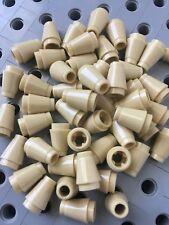LEGO 1x1 Tan Round Nose Cones Bricks Small New Lot Of 50