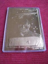 CAPTAIN PICARD STAR TREK NEXT GENERATION 23KT GOLD CARD 1995 FROM SKYBOX