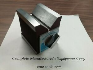 "2-7/8x2-3/8x2-3/4"" on/off magnetic Knob V-BLOCK 260 lbs mag power #706P-150"