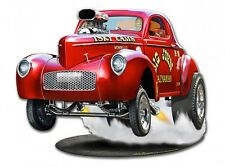 1940 Willy's Big John Gasser Sign - Hand Made in the Usa with American Steel