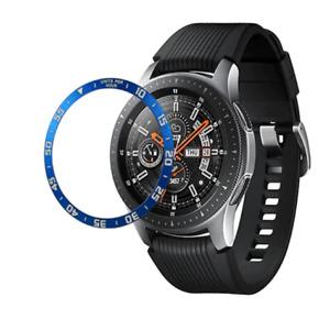 Blue Metal Bezel Ring for Samsung Galaxy Watch 46mm/Gear S3 (Time)