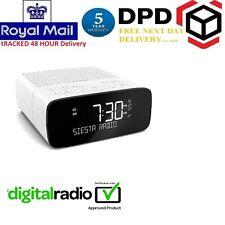 Brand New Pure Siesta Rise DAB FM Radio Alarm Clock White