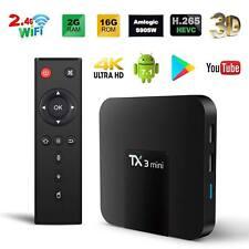 TX3 Mini 2G + 16G Android 7.1 Amlogic S905W KODI 2.4G WiFi 4K TV Box UK Plug