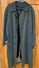 Burberry Mens Gray Trench Coat Removable Liner Wool & Camel Hair Sz 40