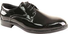 Tab Men Formal Dress Shoes Tuxedo Black Patent Lace Up Oxford Wrinkle Free