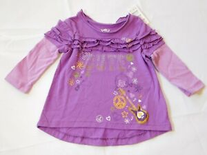 """The Children's Place Baby Girl's Long Sleeve Shirt 6-9 Months """"Cute"""" Guitars NWT"""