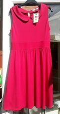 BNWT Oasis Skater Style Dress With Peterpan Collar Size 14