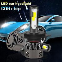 2 x H4 Hi/Lo Beam 120W 12000LM COB LED Car Headlight Kit High Bulbs 6000K White