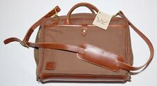 NEW MISSION MERCANTILE~WHITE WING CANVAS & LEATHER LAPTOP BAG BRIEFCASE TOBACCO