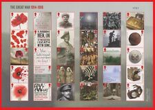MS4138a 2018 Great War Composite Sheet of 30 Stamps (Number on sheet will vary)