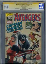 CGC 9.4-SS STAN LEE Auto/Signed on 9/11/15! Wizard Ace Edition:AVENGERS #4 L@@K
