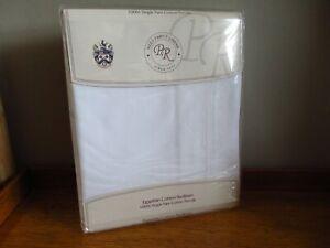 Peter Reed Reed Family Family x 1 White Single Flat sheet Egyptian Cotton