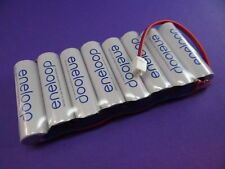 BATTERIA trasmettitore Panasonic ENELOOP 9,6v per HITEC AGGRESSOR fino a 2100 cicli di ricarica NUOVO