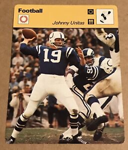 Johnny Unitas Football Card 1977 SPORTSCASTER Japan NRMT