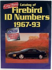 Catalog of Firebird ID Numbers 1967-93 Car & Parts Magazine VIN Tags Body Plates