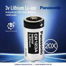 20x Panasonic 3V CR123a 1400mah CR17345 Lithium Battery CR123 DL123A EL123A 123A