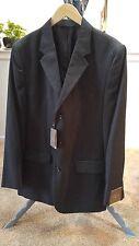 Merona Mens 3-But. Modern Fit Suit Jacket 42L Grey wsm White Stripe FINAL LIST
