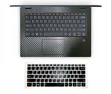 Black carbon fiber Palmrest Skin + Keyboard Cover for Lenovo Flex 5 14''