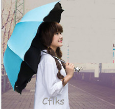 Blue umbrella  Anti UV Folding Princess Beautiful  Rain/Sun Umbrellas Parasol