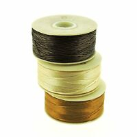 NYMO Beading Thread Size D for Delica Beads, Brown, Champagne & Golden 64 Yd/ea