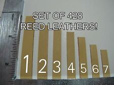 Accordion REED LEATHER LEATHERS VALVES Ventile Assorted Sizes 1-7 Set of 428