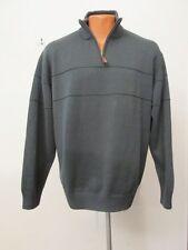 S7868 Pendleton Men's XL Green 1/2 Zip Ribbed Collar/Cuffs/Waist Sweater
