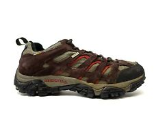 Merrell Mens Moab Waterproof Brown Leather Athletic Trail Hiking Shoes Size 11