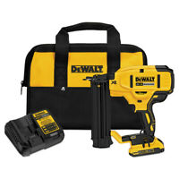DEWALT 20V MAX Li-Ion XR 18 GA Cordless Brad Nailer Kit DCN680D1 New