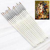 Extra Fine Brush Set 15pcs For Fine Detail Artwork Miniature Modelling Nail Art