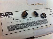 (15 pcs.) Dx-5R5H224 - Elna, .22F 5.5v Supercapacitor(Memory Back-Up Capacitor)
