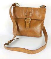 Debenhams Collection Tan Leather Messenger Shoulder Bag 26cm X 26cm