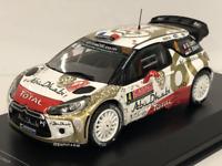 Citroen DS3 WRC No1 S. Loeb.D.Elena Monte Carlo 2015 1:43 Scale