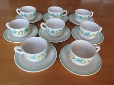 Lot of 8 Cups with Saucers Tulip Time Franciscan Earthenware