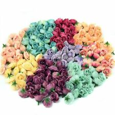 10pcs Mini Silk Artificial Rose Flowers  For Wedding Party Home Room Decoration