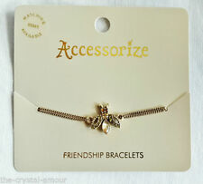 Accessorize Crystal Mixed Metals Costume Bracelets