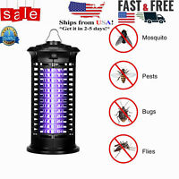 Mosquito Fly Bug Insect Zapper Killer Indoor Outdoor Electronic LED Trap Lamp