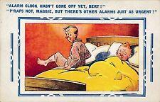 POSTCARD  COMIC   BAMFORTH COMIC Series No  77    Bed  Alarm  clock