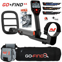 Minelab GO FIND 44 Metal Detector with Black Transport Carry Bag and Finds Pouch