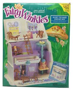 """Kenner FAIRY WINKLES Dolls """"Secret Treasure Jewelry Box"""" Vintage 1993-NEW, Open"""
