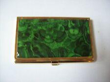 Gold/Green Swirl Business Card Case
